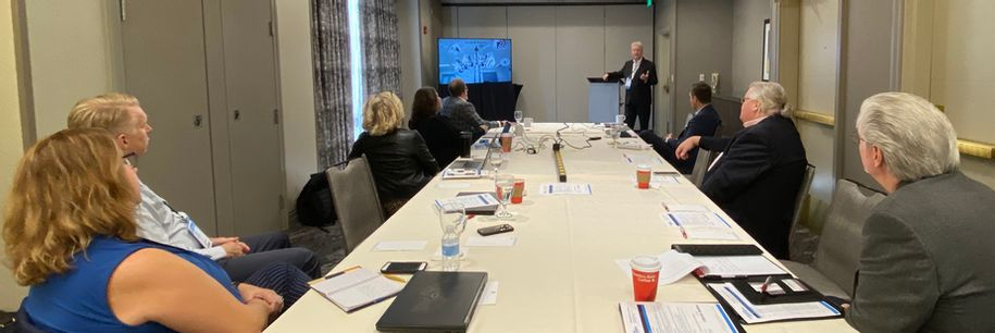 Richard Staynings, Chief Security Strategist with Cylera kicks off the Southwest Executive Security Round-Table in Houston with a morning keynote on 'Patient Safety in the Era of Healthcare IoT'. Photo: Stephen McCollum.
